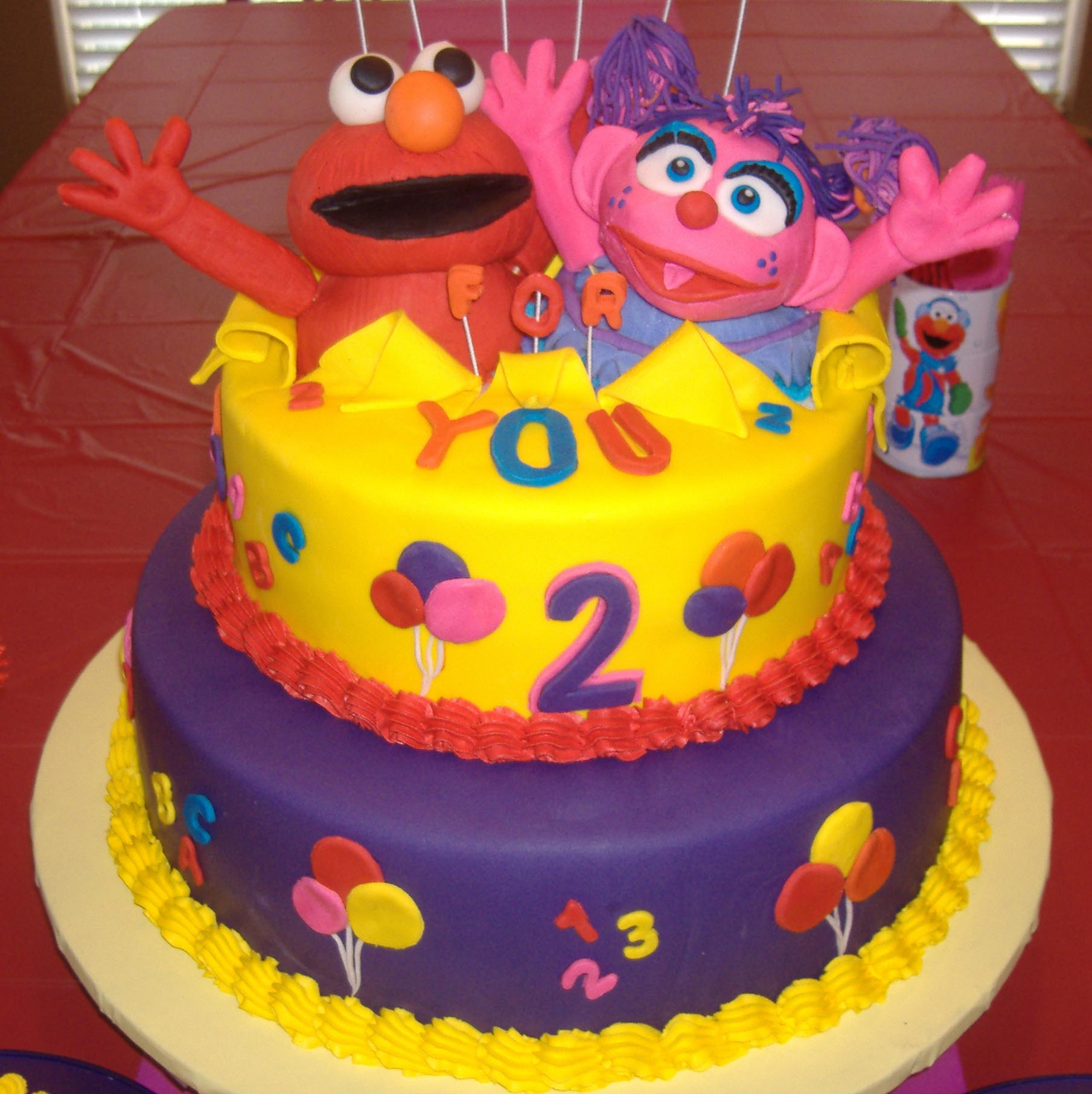 Elmo And Abby Party - Elmo and abby birthday cake
