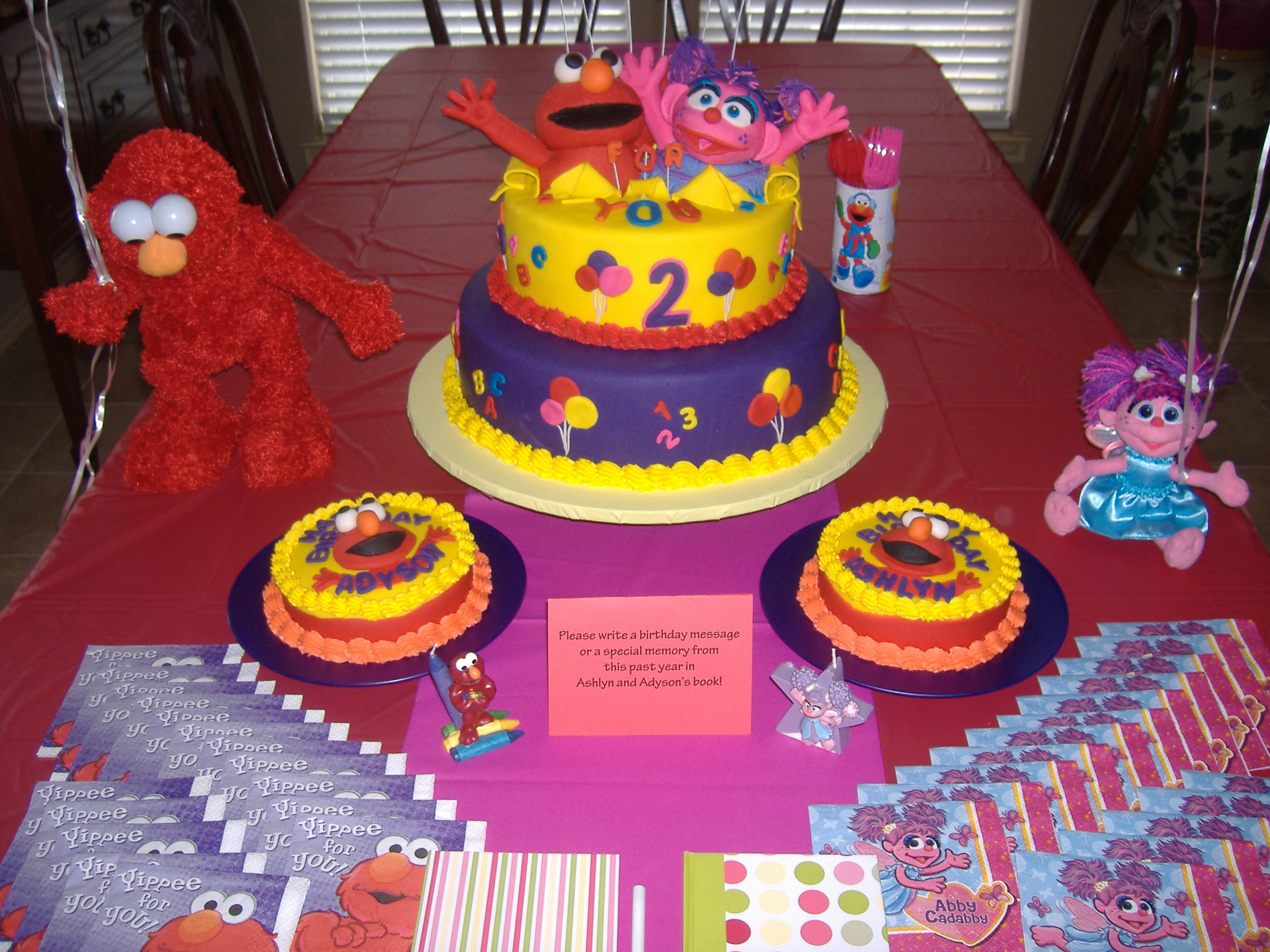 elmo and abby party on elmo abby birthday cake
